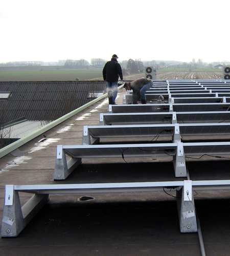 The installation of our Solar Panels