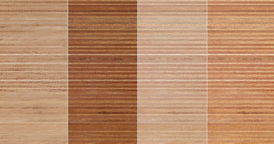 Plexwood® Ocoumé multiplex composites, a combination of finishes on this type of wood