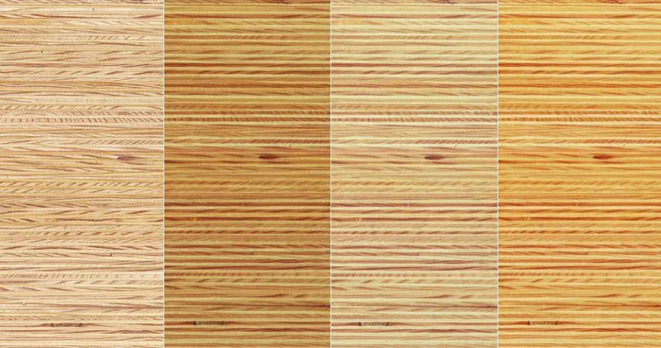 Plexwood® Pine multiplex composites, a combination of finishes on this type of wood