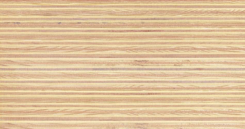 Plexwood® Pine/ocoumé untreated finish, with the finish you determine the end colour of the wood