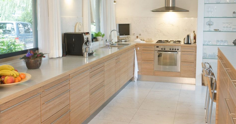 Plexwood Eatin Kitchen Overview With Kitchen Cabinetry In Natural Birch  Restacked