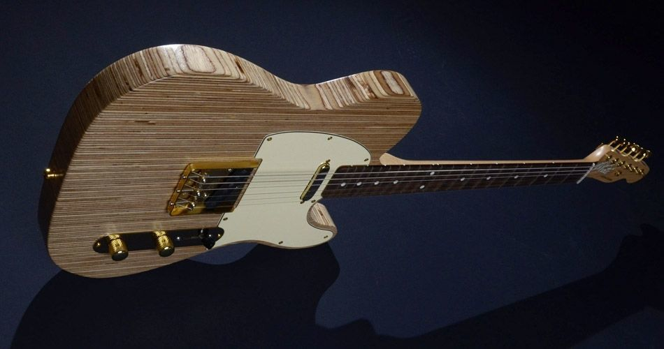 Plexwood® Awesome hand-built telecaster electric guitar from White Custom Guitars from birch solid refaced plywood