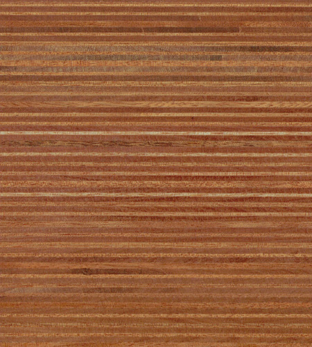 Plexwood® Ocoumé oil/wax finish, natural coloured green fineline surfacing veneer multiplex