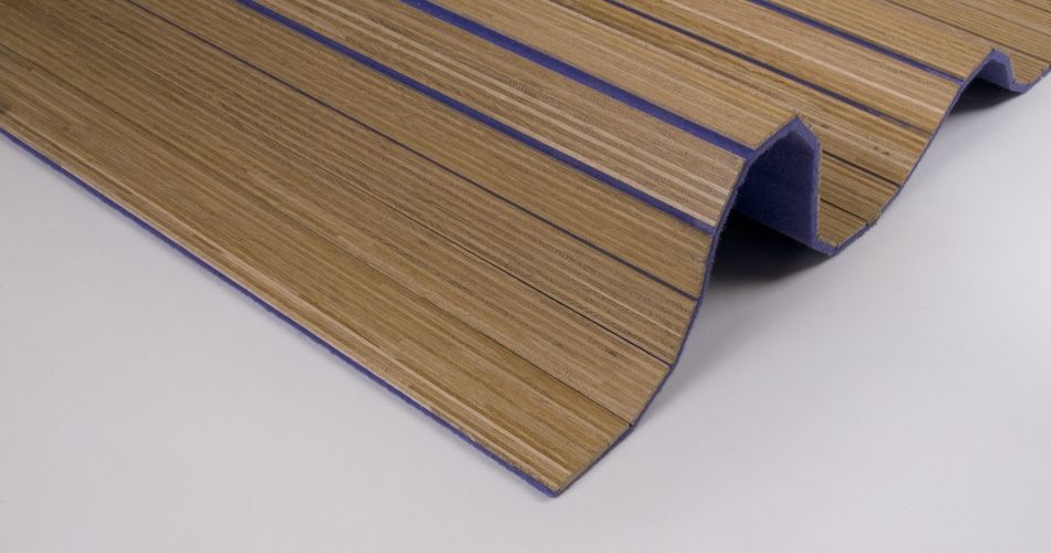 Acoustic wool felt flexible for wall, ceiling, furniture and sharply curved or flexible forms