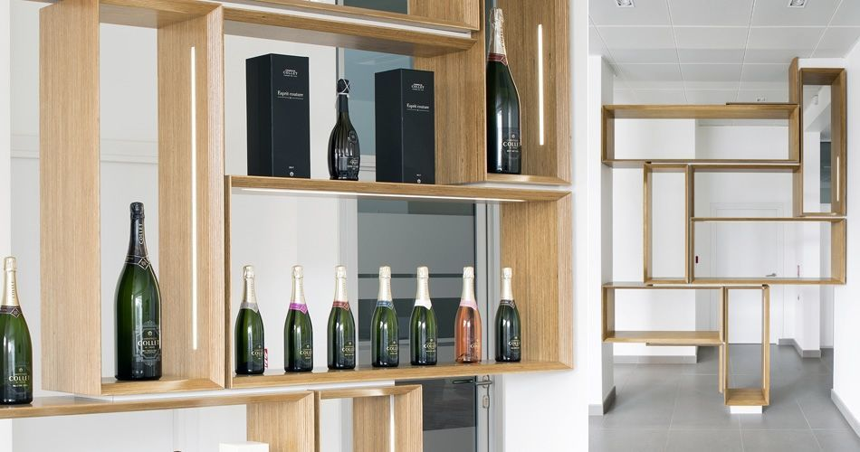 Plexwood® CO.GE.VI. Champagne shop, office and distillery