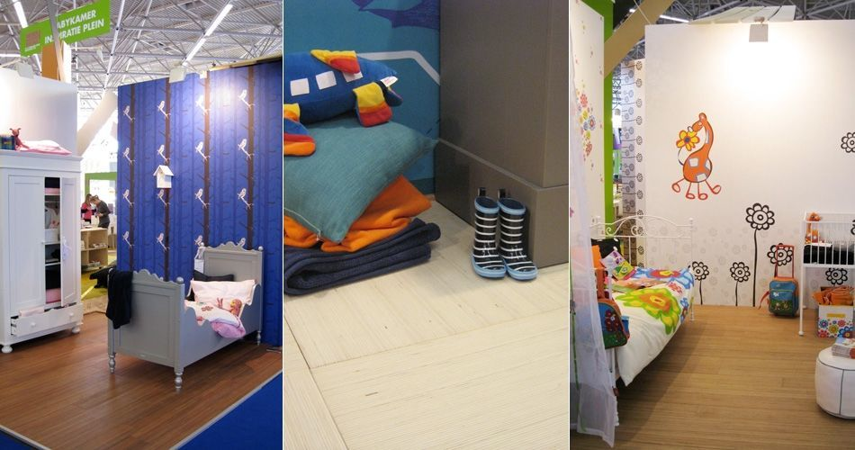 Plexwood® 9 Months Fair (9 Maanden Beurs) sustainable chic babyroom concept flooring floating tiles and planks
