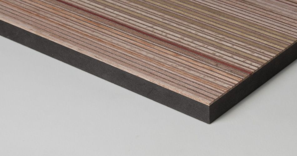Plexwood® Versatile one-sided design panels made with virtually any specific technical and sustainability qualification