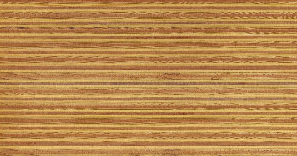 Plexwood® Pine/Ocoumé oil/wax finish, multiple layered plywood composite veneer