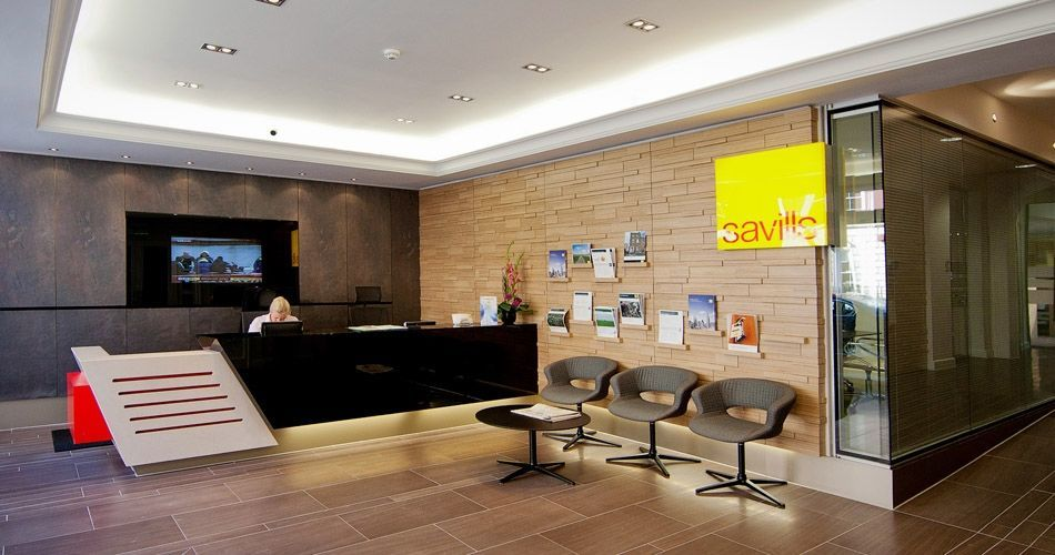 Plexwood® Savills HQ Reception Relief Wall In Birch Contrariwise  Re Designed Plywood