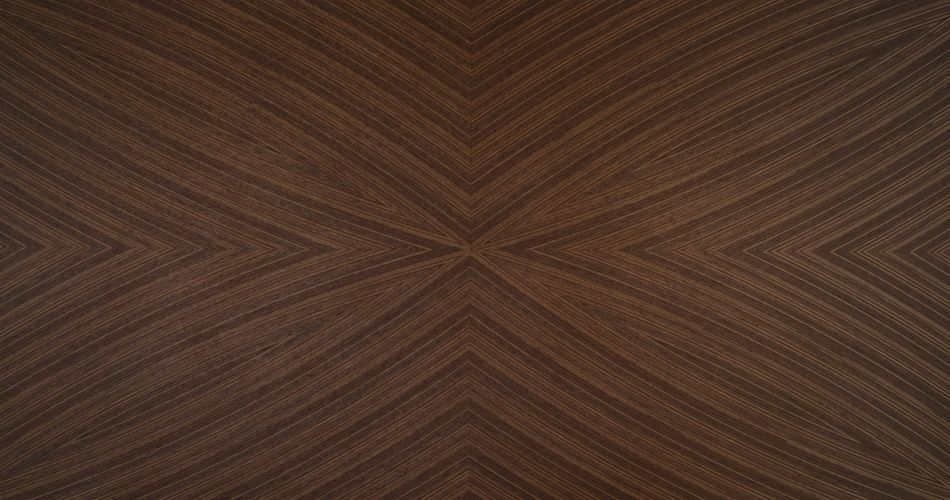 Plexwood® An example of bespoke curved patterned wood veneers, for product designers and architects