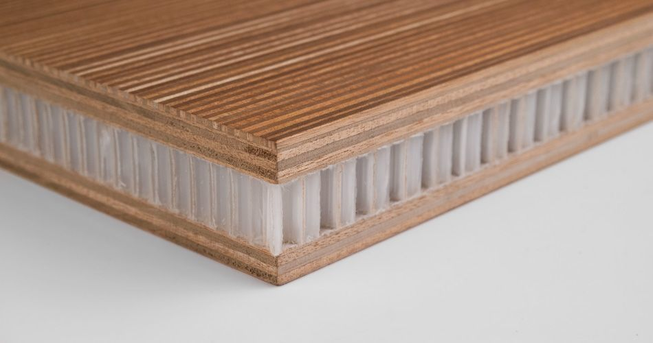 Plexwood® An example of the wide range of production options, small or extra-large, extra thick or ultra thin