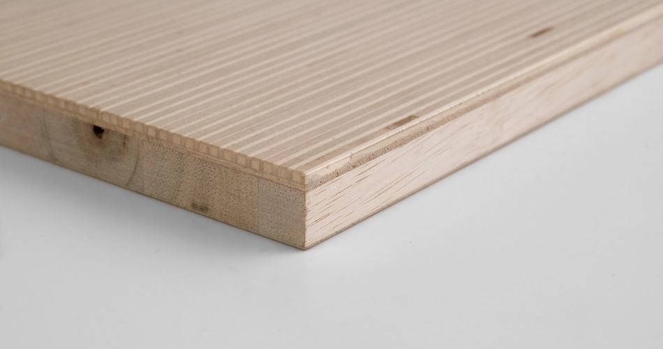Plexwood® An example of bespoke materials with a special build up with re-structured veneer plywood