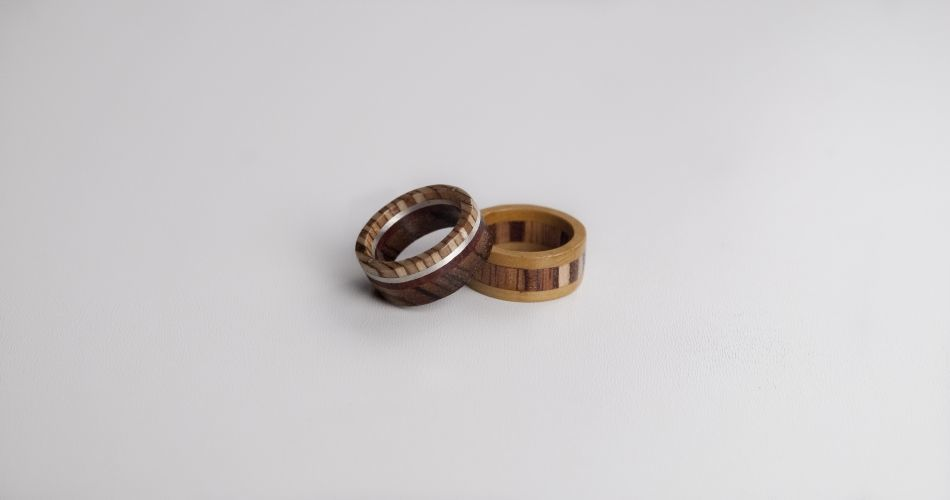 Plexwood® Merieke Werdler for Timberring upcycled engineered re-ply wood for wooden jewellery