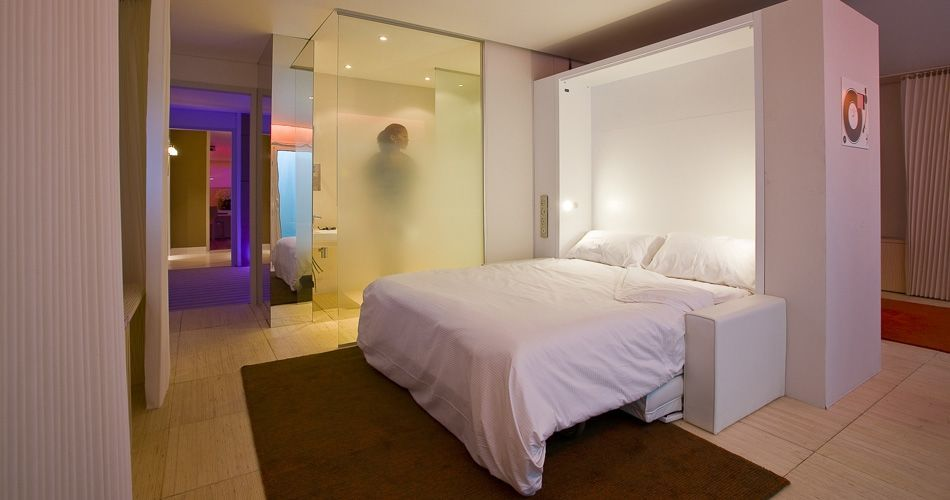 Plexwood® Valorisation de l'Innovation dans l'Ameublement (VIA) at Equip'Hotel with a concept hotel room